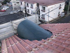 銅板屋根から雨漏り